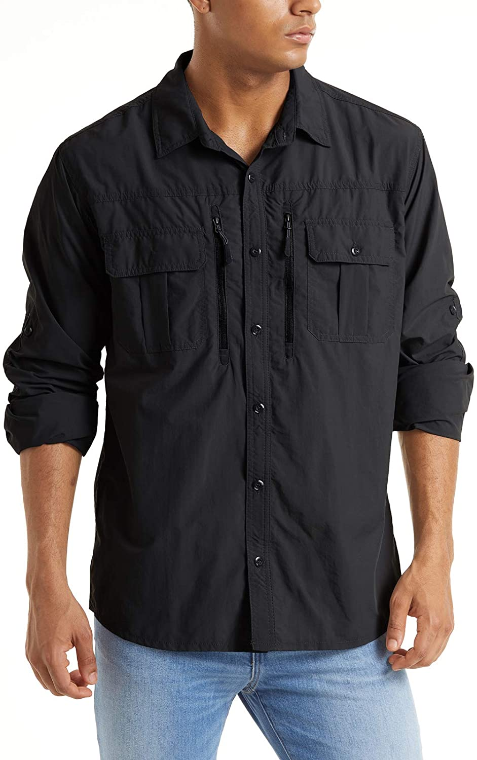 TACVASEN Men's sold out Tactical Department store Shirts Quick UV Breathabl Protection Dry