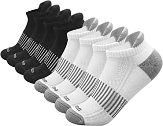 Men's and women's Running Ankle Socks 4 pairs, Performance Athletic Running Stocking,Low Cut Athletic Sport Tab Socks