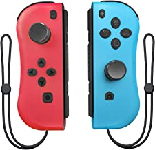 Wireless Switch Joycon Controller for Nintendo Switch Joy Con (L/R) with Wrist Strap Compatible Switch Console with Nintendo Switch as a Joy Pad Controllers Replacement (Red and Blue)