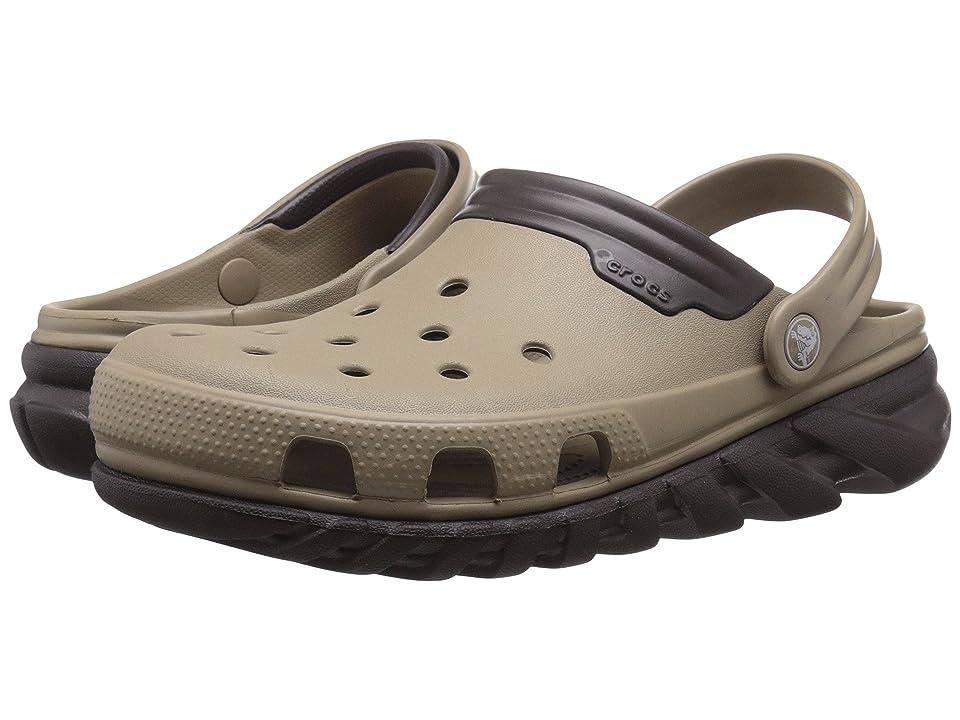 Crocs Duet Max Clog (Khaki/Espresso) Clog Shoes