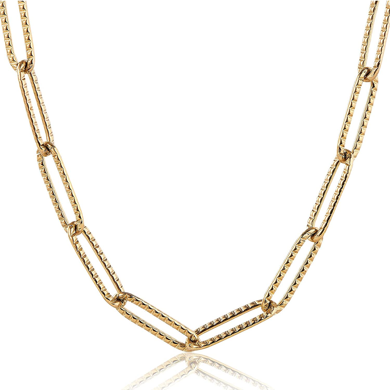 UR URLIFEHALL 2m Real 18K Gold Long-Lasting Plated Handmade Brass Cubic Zirconia Chains for Bracelet Necklace Jewellry Making