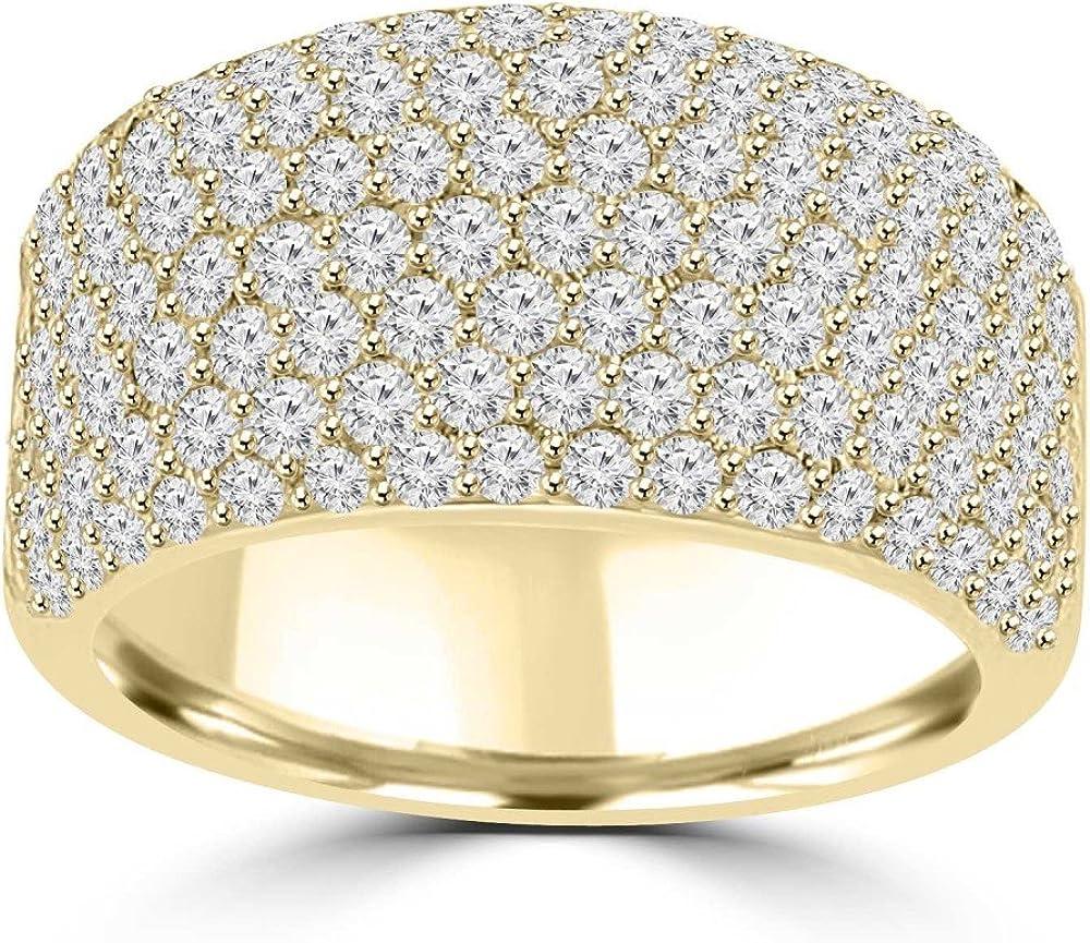 Madina Manufacturer direct delivery Jewelry 3.25 service ct Ladies Cut Round Wedd Anniversary Diamond