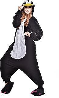 Halloween Fleece Penguin oneise Adult Pajamas