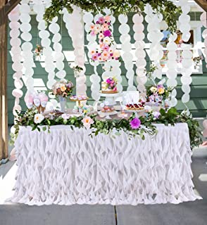 Best lace table skirt Reviews