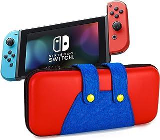 Nintendo Switch ニンテンドースイッチ ケース 任天堂スイッチ専用バッグ キャリングケース 大容量 10枚ゲームカード/充電ケーブル/イヤホン/Joy-Consなど収納可 全面保護型 耐衝撃 撥水 持ち運び便利,赤