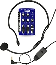 JUST MIXER 3.5mm Stereo Audio Mixer + Professional Headset Microphone for Voice Recording, Webcasts, Public Speaking, etc.
