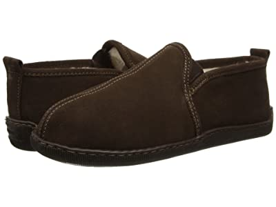 Minnetonka Pile Lined Romeo Slipper (Chocolate Suede) Men