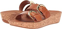 Duo-Buckle Slide Sandals - Leather