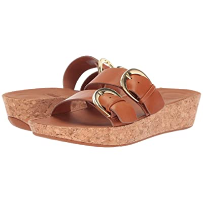 FitFlop Duo-Buckle Slide Sandals Leather (Caramel) Women