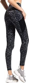 QUEENIEKE Women Yoga Leggings Power Flex Mesh High Waist 3 Phone Pocket Gym Running Tights