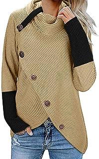 Sudadera de Manga Larga para Mujer, para otoño, Invierno, cálida, cómoda, Casual, para Mujer, suéteres sólidos, a la Moda,...
