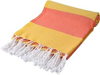 Cacala Pestemal Turkish Bath Towels Striped Bath Beach Sauna Luxury Peshtemal 37x70 Yellow Coral