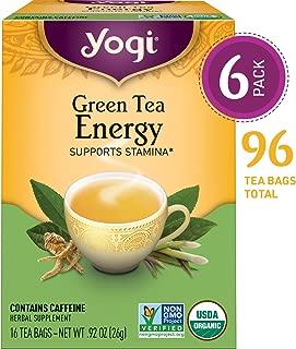 Yogi Tea - Green Tea Energy - Supports Stamina - 6 Pack, 96 Tea Bags Total