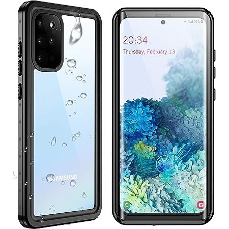 "SPIDERCASE for Samsung Galaxy S20 Plus Waterproof Case, Built-in Screen Protector Fingerprint Unlock with Film, Shockproof Full Cover Waterproof Case for Samsung Galaxy S20 Plus 5G 6.7"", Black/Clear"