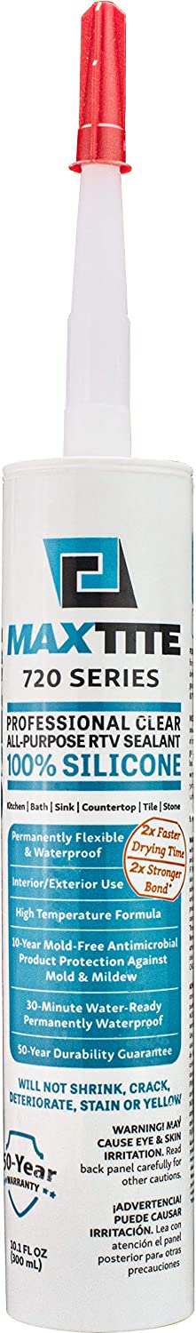 Opening large release sale MaxTite 720 Series Clear 100% All-Purpose RTV Professional Grade Seattle Mall
