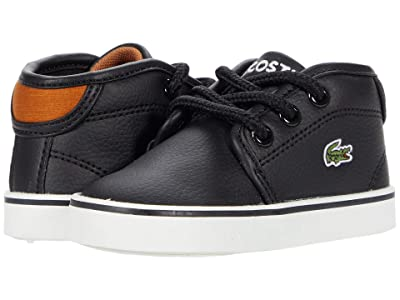 Lacoste Kids Ampthill 0120 1 CUI (Toddler/Little Kid) (Black/Brown) Kid