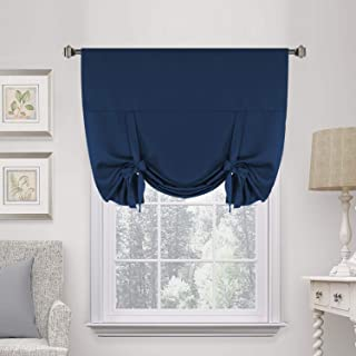 H.VERSAILTEX Thermal Insulated Blackout Adjustable Tie Up Shade Curtain(Rod Pocket)-42
