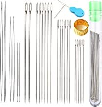 Y-Axis 26 Pcs Assorted Beading Needles Including 6 Pcs Big Eye Beading Needles + 20 Pcs Long Straight Beading Thread Needl...