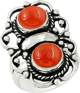 حجر القمر الطبيعي لابيس لابرادوريت اثنين من حجر القمر 925 الفضة مطلي مجوهرات يدوية للنساء الرجال