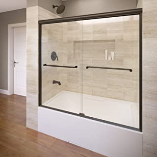 Basco A0044-60CLOR Infinity semi-frameless sliding tub door, Oil Rubbed Bronze
