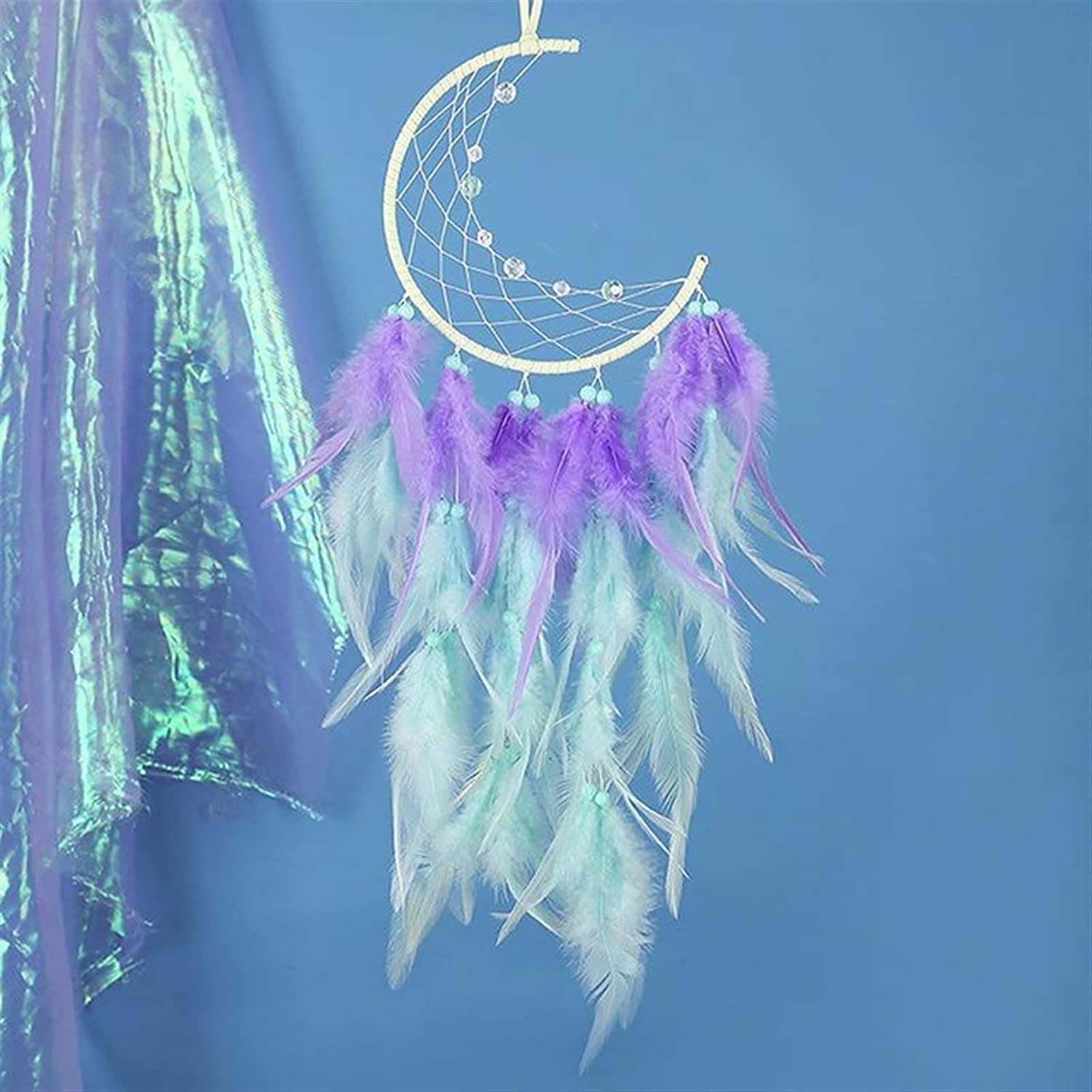 JINSHAO Excellent Dream Catcher National Feather Ribbons New item Ornaments Lace Fe