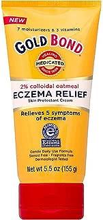 Gold Bond Eczema Relief Cream, 2% Colloidal Oatmeal, 5.5 oz, Pack of 2