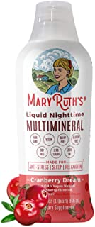 Liquid Sleep Multimineral by MaryRuth's - Cranberry - Vegan Vitamins, Antioxidants, Minerals, Magnesium, Calcium & MSM - N...