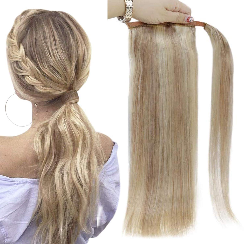 Full 格安 Shine Ponytail Extension Blonde Around Highlights 数量は多 Hair Wrap