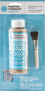 Martha Stewart Crafts Glass Etch Cream with Brush (5.96 -Ounce), 33222