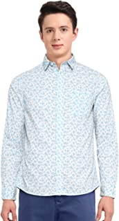 John Miller Men's Printed Slim fit Casual Shirt