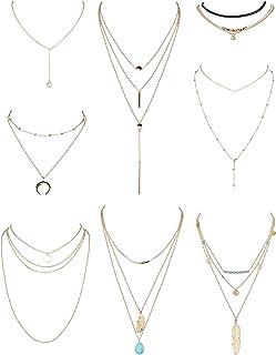 Theory London Collier /à Doubles Rang/ées Orn/é de Perles Color/ées