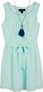 Amy Byer Girls' Sleeveless Blouson Dress