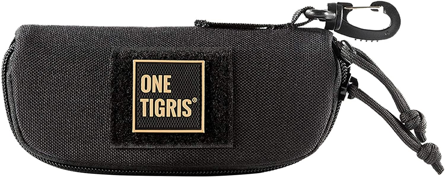 OneTigris Eyeglasses Hard Case Tactical Molle Zipper Sunglasses Carrying Case 1000D Nylon with Clip