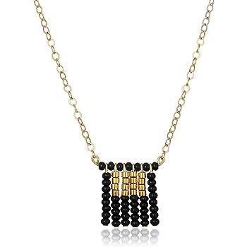 [シダイデザイン] SidaiDesigns OTBL0 - Short Block Tassel Necklace On Chain OTBL0