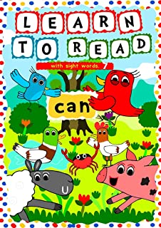 Learn to Read with Sight Words: (CAN) – A learning to read activity book for beginners and kindergartners aged 3 to 5: A t...