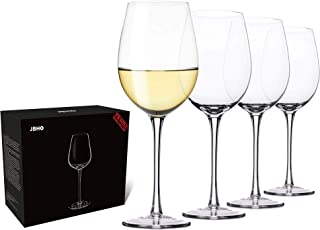 Hand Blown Italian Style Crystal White or Red Wine Glasses - Gift Packaging for Any Occasion - Lead-Free Premium Crystal Clear Glass - Set of 4-18 Ounce