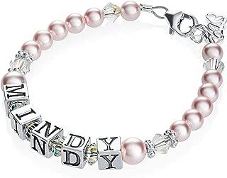 baby bracelet silver personalised