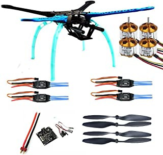 Qwinout S550 DIY RC Quadcopter Drone Unassembly PNF Combo Set KK Multicopter Flight Control (No Battery Remote Controller)