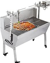 OrangeA Grill Motor 23W 110V 132 Lbs BBQ Pig Lamb Rotisserie Roaster Stainless Steel Skewer Roast G