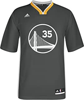 NBA Men's Golden State Warriors Kevin Durant Replica Player Road Jersey, Large, Gray