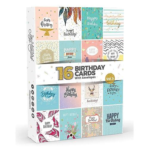 16 X Birthday Cards By Joy MastersTM Vol3
