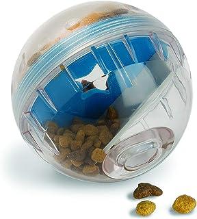 كرة IQ Treat Ball من Pet Zone - كرة توزيع المكافآت للكلاب قابلة للتعديل (بطيء التغذية، لعبة أحجية للكلاب، لعبة توزيع المكا...