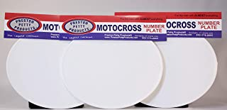 Unbreakable MX Number Plates - Oval - White - Set of 3 - Authentic Preston Petty Products