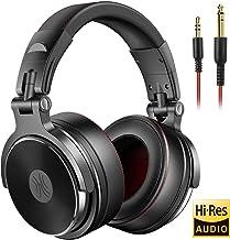 OneOdio DJ Auriculares, Estudio Auriculares, Auricular sobre la oreja, auriculares estéreo cableado Auricurales Plegables con Micrófono de 40mm Sonido Profesional