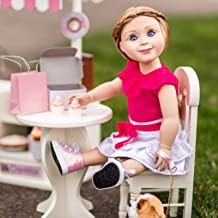 The Queen's Treasures 18 Inch Doll Café Doll Table and Two Chair Set Compatible With 18 Inch American Girl Doll Kitchen, Furniture & Accessories This Café Set is Perfect for Use with Doll Bakery Shop.