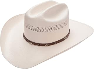 Stetson Men's Lobo 10X Straw All-Around Vent Star Concho Band Cowboy Hat - Sslobo-3042