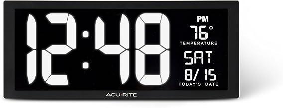 "AcuRite 75159M 14.5"" Large White LED Digital Clock Inch"