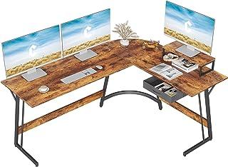 """CubiCubi Modern L-Shaped Desk Computer Corner Desk, 59.1"""" Home Office Writing Study Workstation..."""