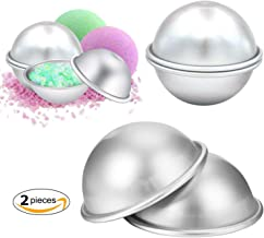 Bath Bomb Molds Metal Aluminum Alloy Bomb Balls Molds for DIY Baking Soap Making Kitchen Tools 2pcs/Set