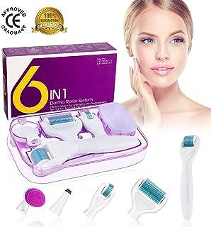 Dermaroller Winpok 6 en 1 Derma Roller Derma roller Ideal para tratar cara Anti-Edad Antiarrugas rodillo facial tita...